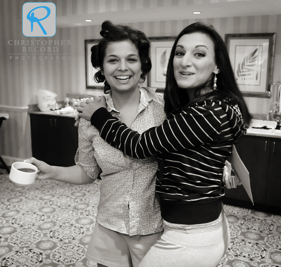 "Another Laura photo of Jackie with her ""double cousin"" Lauren at the Ballantyne Resort"