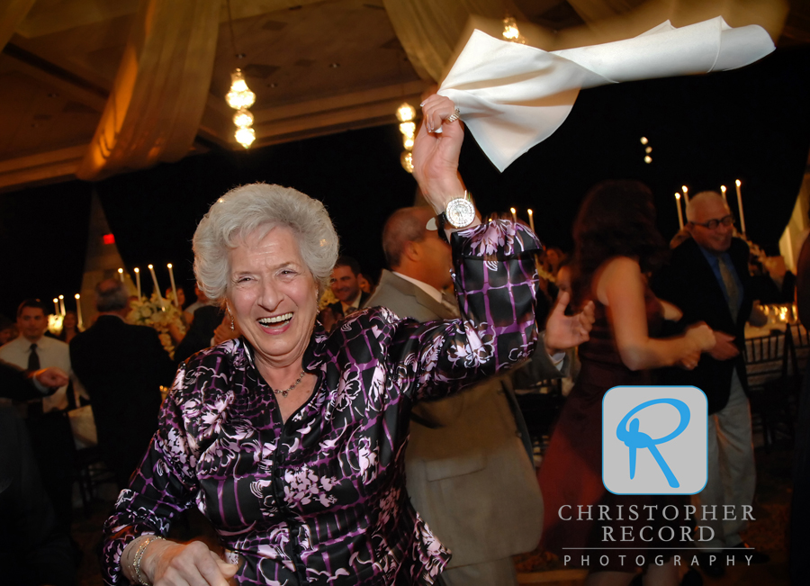Jackie's grandmother has a great time on the dance floor