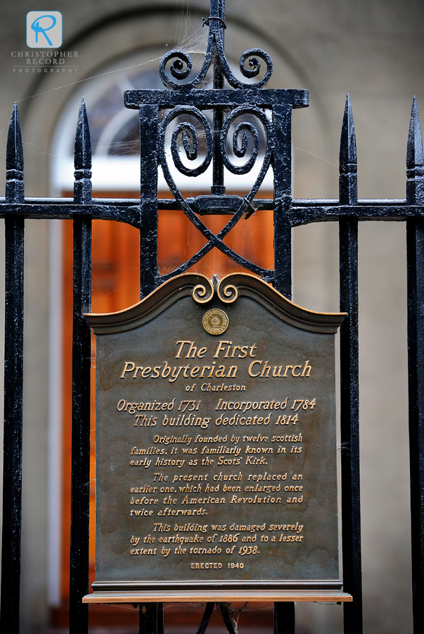 The historic First (Scots) Presbyterian Church in Charleston