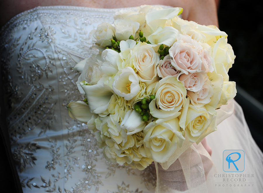 Beautiful boquet and dress