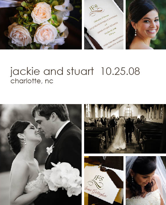 Images from Jackie and Stuart's Charlotte wedding