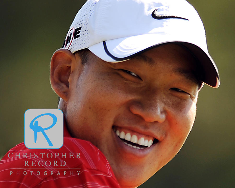 Last year's winner Anthony Kim has some fun early in the week at Quail Hollow