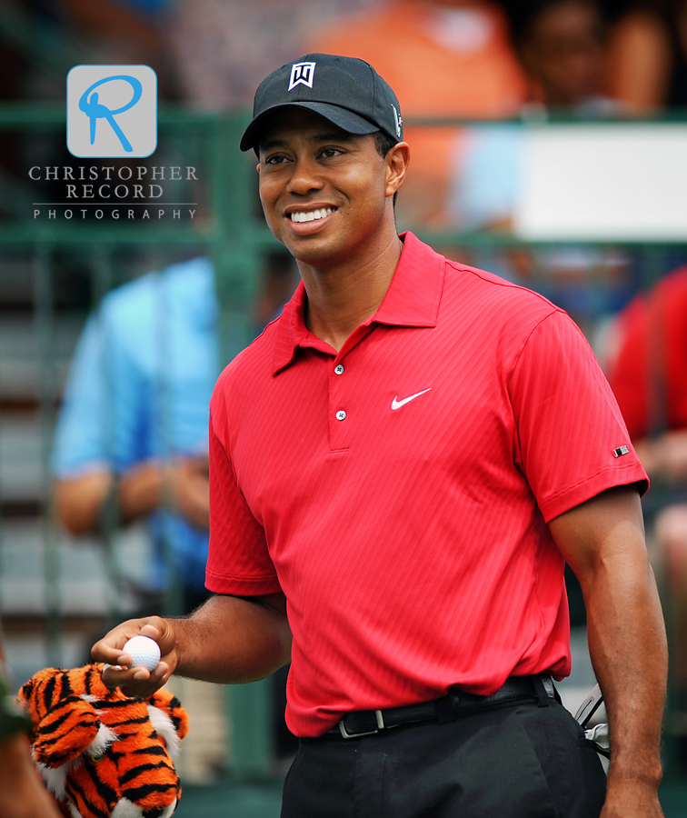 Tiger donned his Sunday red for the final round