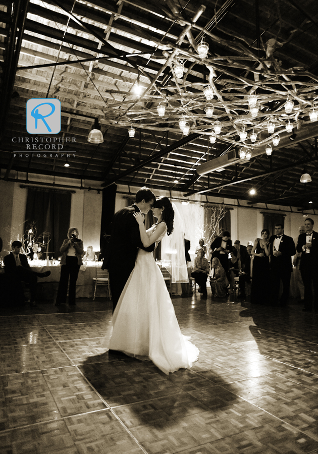 Beautiful setting for the first dance
