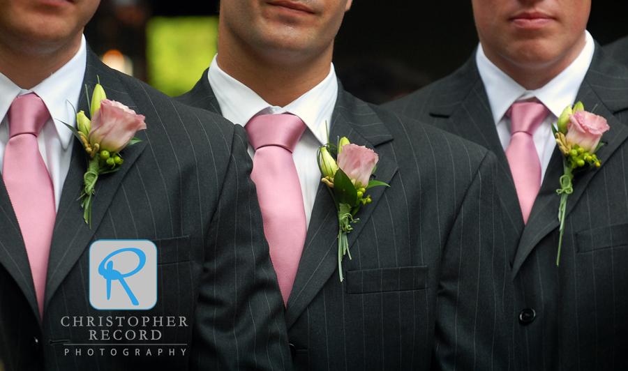 The groomsmen looking sharp