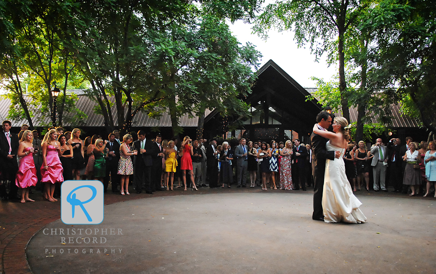 First dance in the courtyard at the Deerpark Restaurant