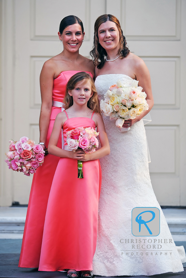 Catherine with Mellisa and junior bridesmaid Kathleen