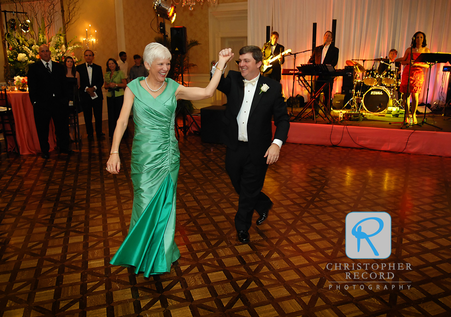 Stephen dances with his mother