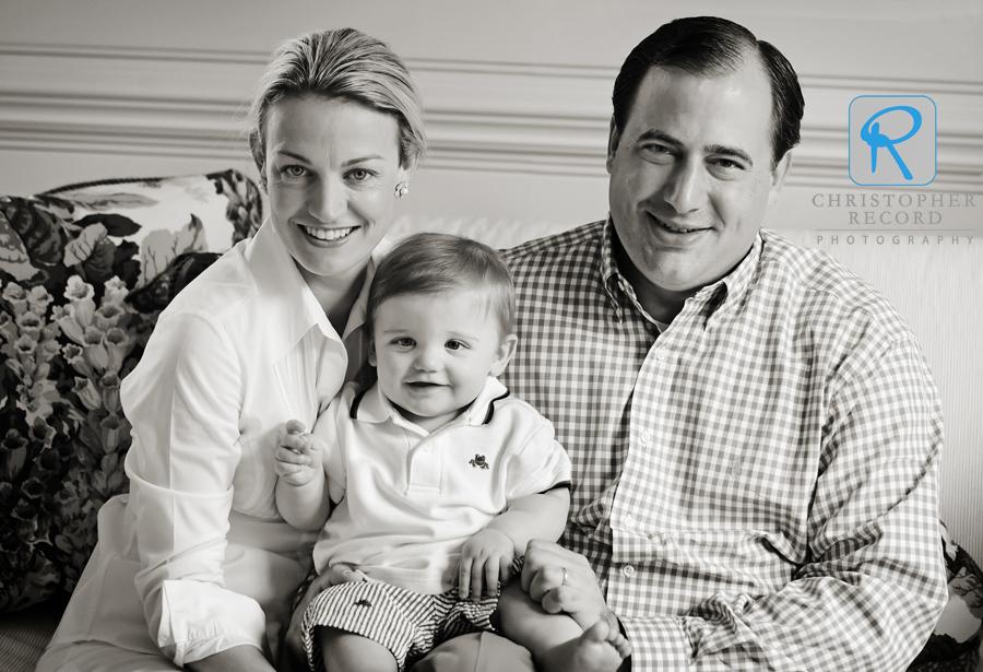 Family portrait: Jayne, Jack and Steve