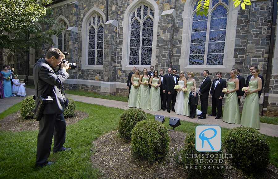 Todd got a photo of me as we were able to do some group shots before the ceremony