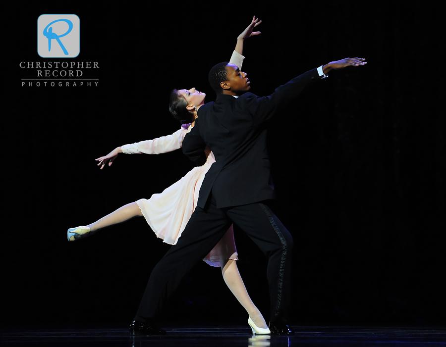 Anna Gerberich and Joseph Watson glide across the floor