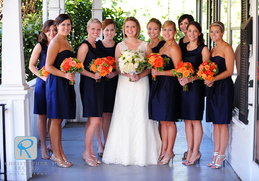 Stephanie and her bridesmaids looking beautiful