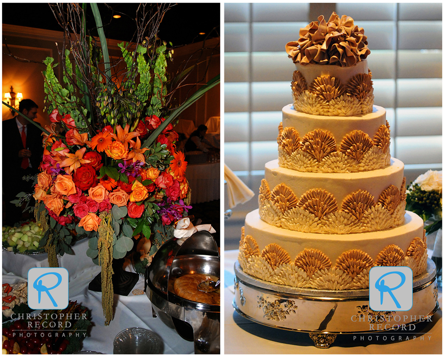 More florals from Buy the Bunch and a magnificent cake from Sylvia's Cakes in Lancaster, SC