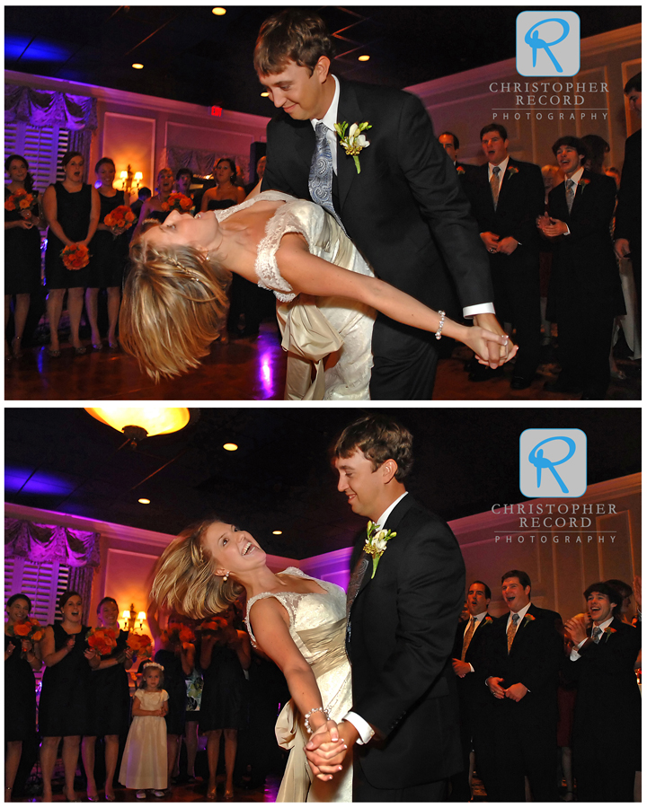 Thomas ans Stephanie were a little worried about this move in their first dance but they pulled it off perfectly