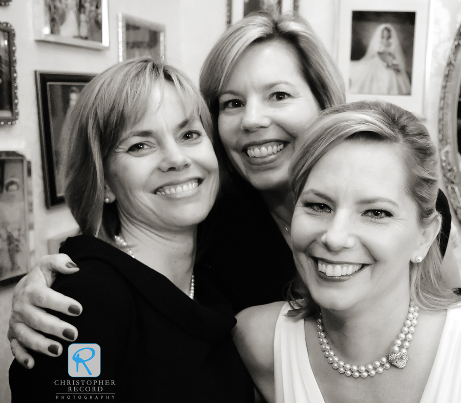 Carolyn with sisters Liz and Katherine