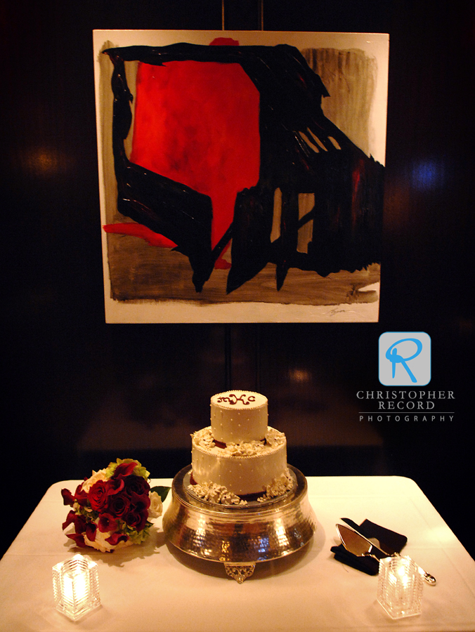 An artful cake arrangement at Del Frisco's