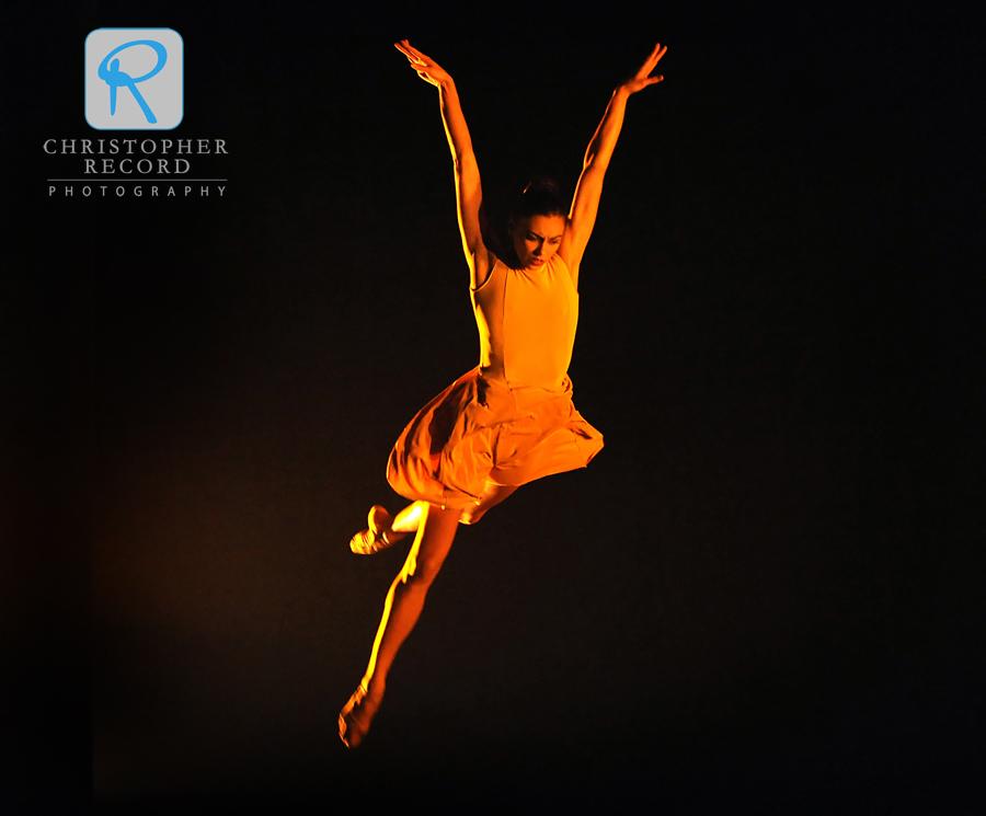 Kara Wilkes leaps