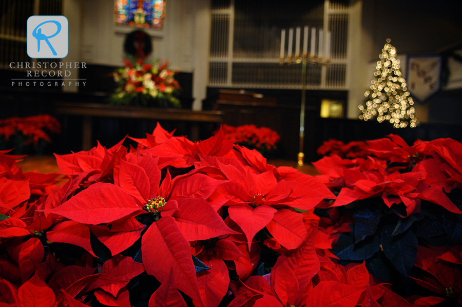 Amazing colors and a wonderful holiday feel at Providence Baptist Church