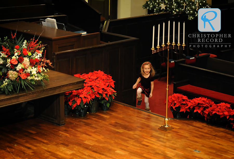 Little Emma is excited about seeing the festive church