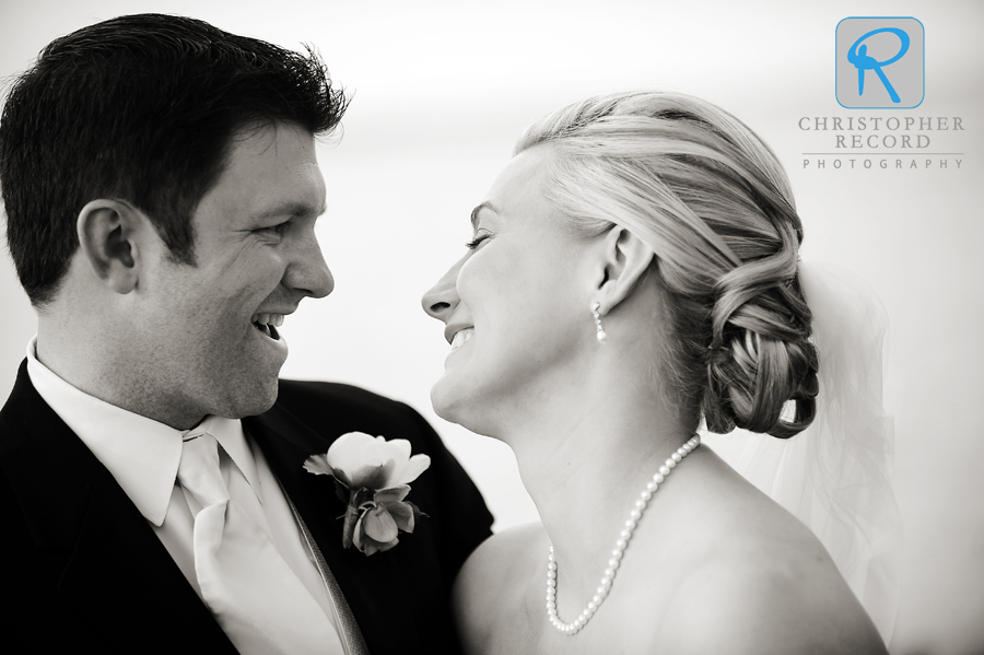 Alison and David's amazing Lake Norman wedding is in the current issue of The Knot