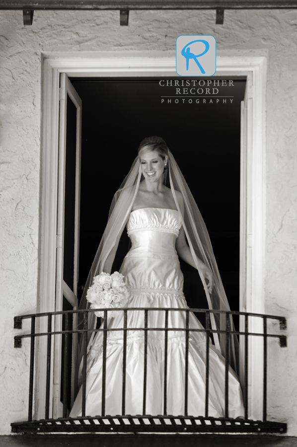 Relaxed bridal portrait