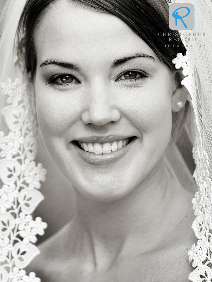 Natural portrait of a beautiful bride