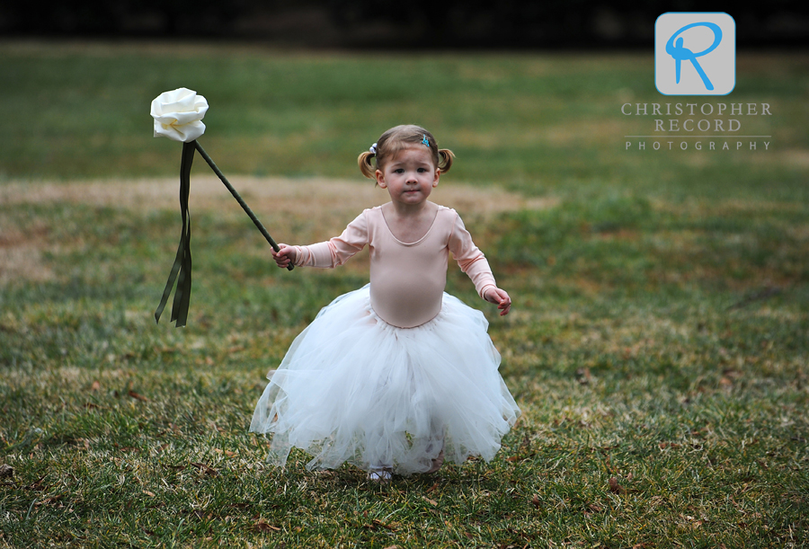 Flower girl on the run