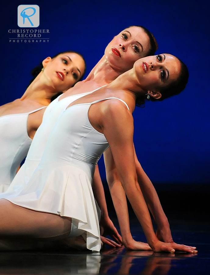 Alessandra Ball, front, Traci Gilchrest and Anna Gerberich in Apollo