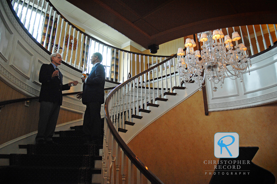 The group moved to Charlotte City Club for the rehearsal dinner