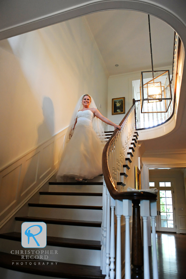 A grand entrance for the beautiful bride