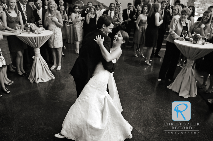 A dip during the first dance