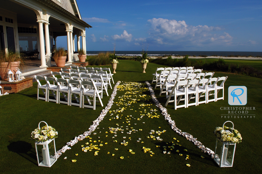 The setting for the intimate ceremony