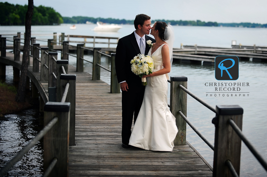 Ann and Byers on the boardwalk at The Point Lake and Golf Club