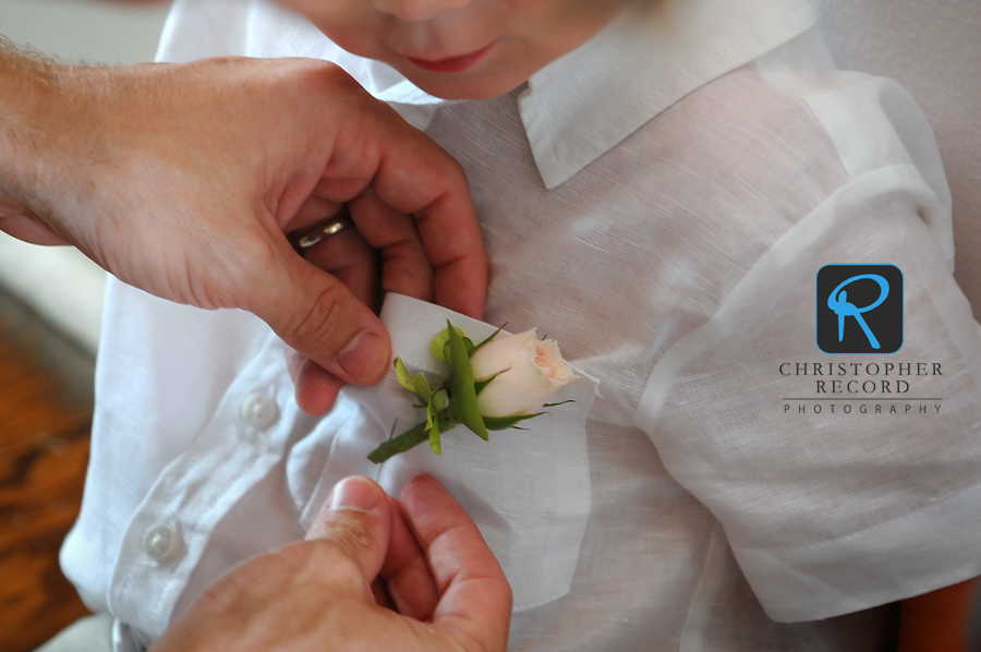 Flower for one of the ring bearers