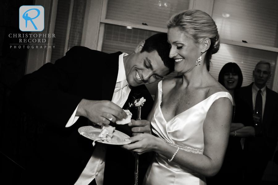 Sharing some cake