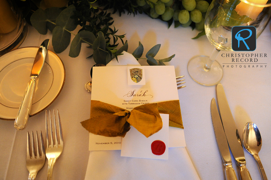 Elegant touches for the dinner