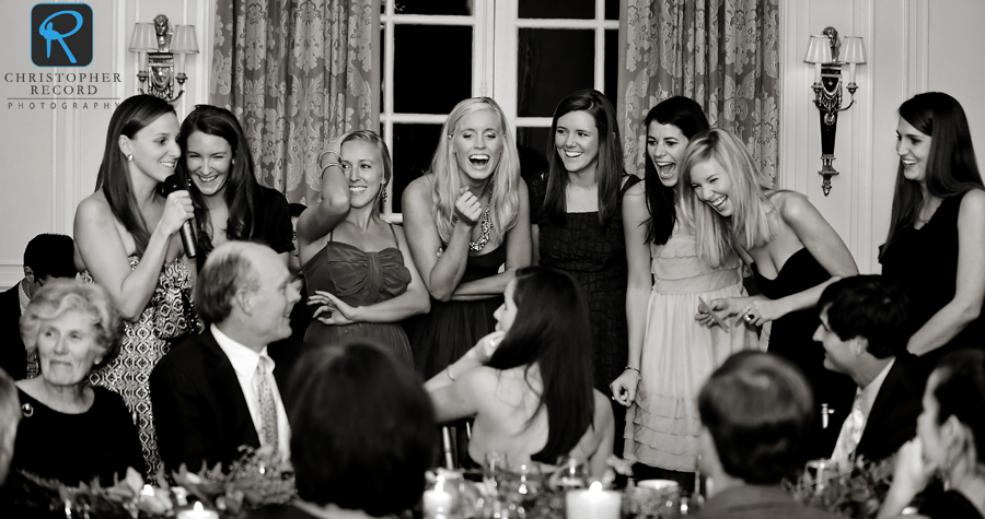 The bridesmaids had everyone laughing