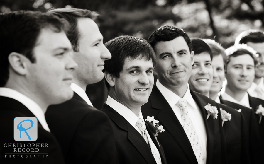 Laura photographed the groomsmen before the ceremony