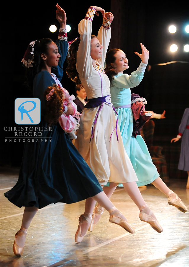 Clara dances with friends