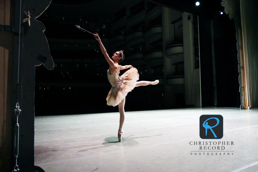 Allessandra Ball practices her Sugar Plum Fairy role