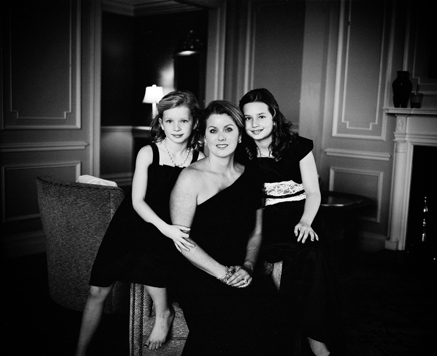 Richard shot some film portraits, including this one of Leighton's sister and her daughters