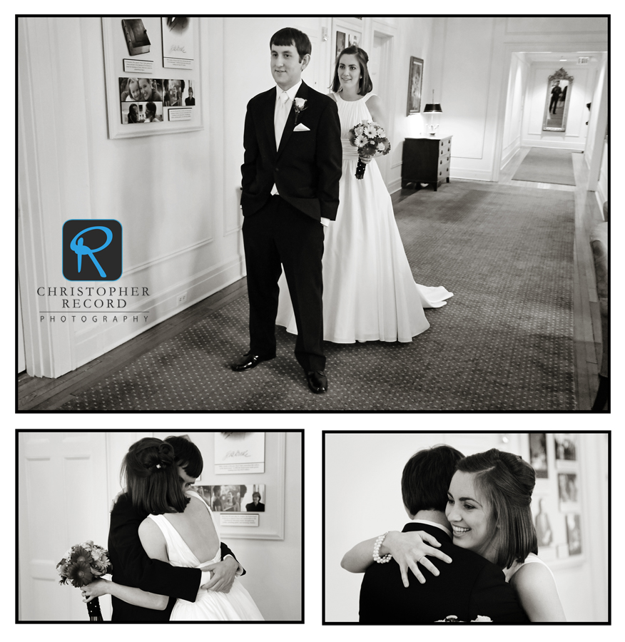 Jade and Jim decided to see each other before the ceremony and this was their first look