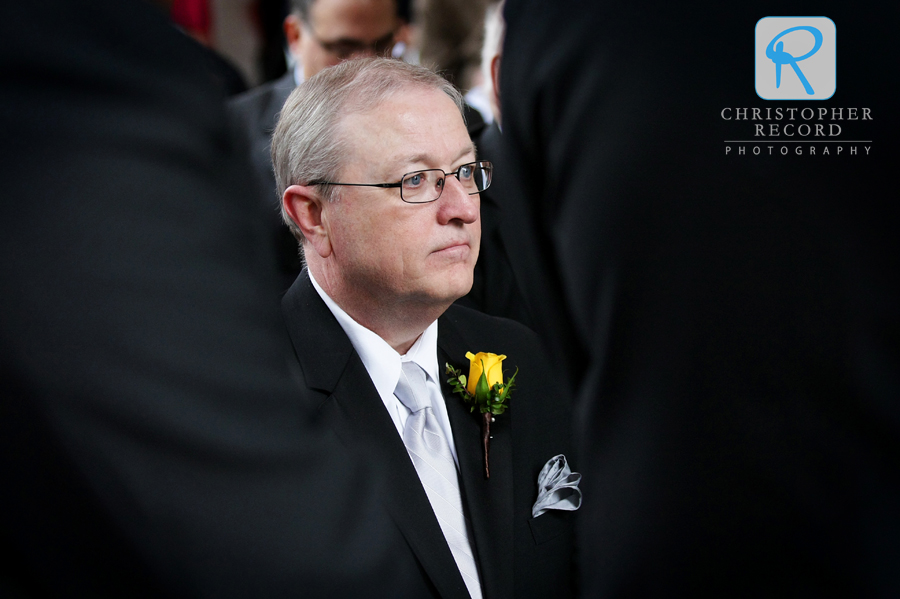 Jim's father watches the ceremony in another nice image from Adam
