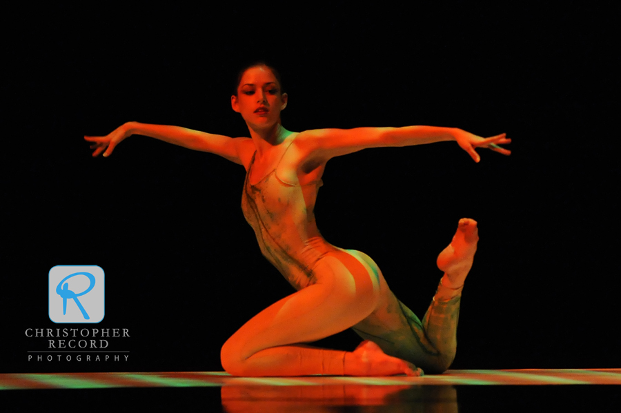 "Anna Gerberich performs ""Satto,"" or ""Wind Dance,"" by former NCDT director Salvatore Aiello"