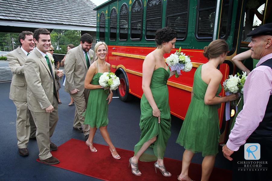 Heading to the ceremony