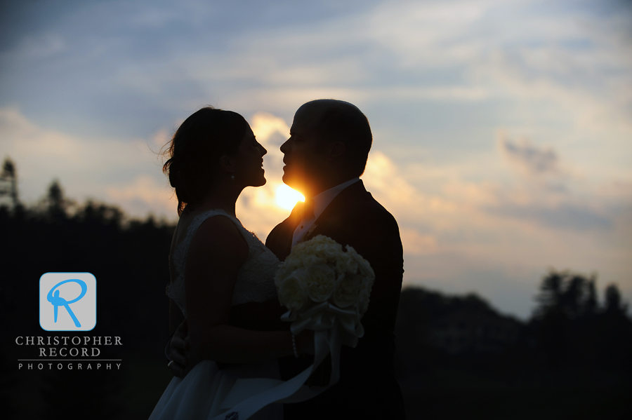 Christina and Brian at Blowing Rock Country Club