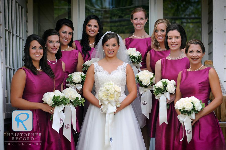 Christina and her bridesmaids