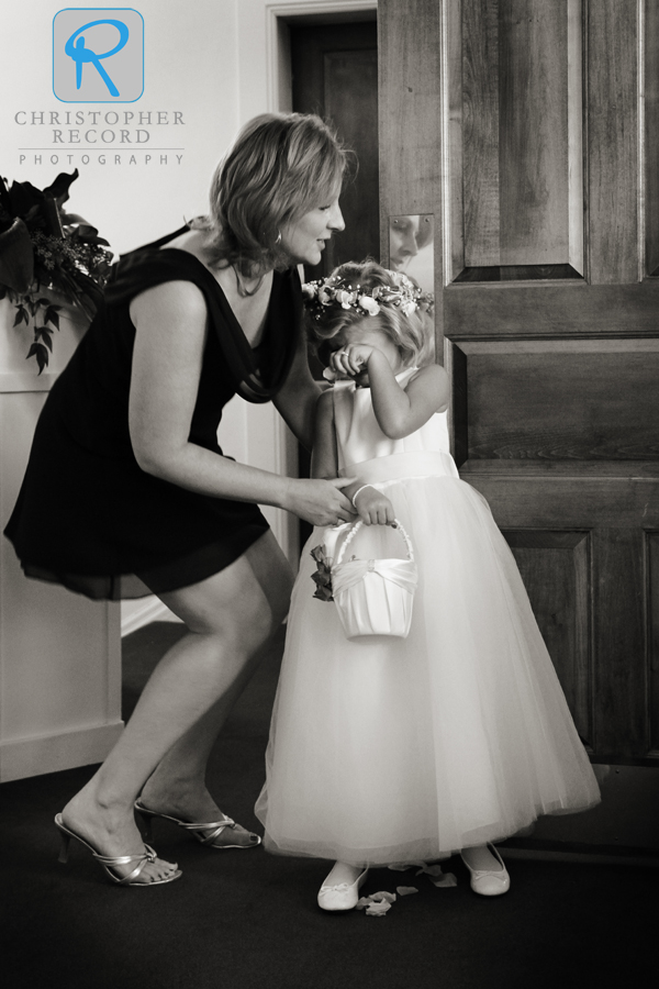 The flower girl had changed her mind at the last minute