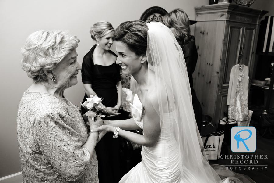 Lauren shares her excitement with her grandmother