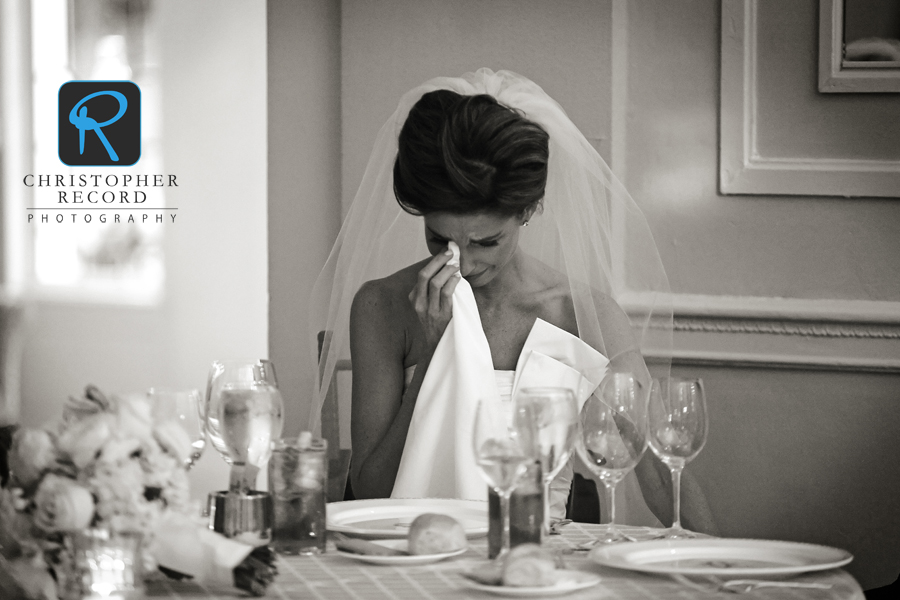 Lauren got emotional during her father's speech, in this image from Adam
